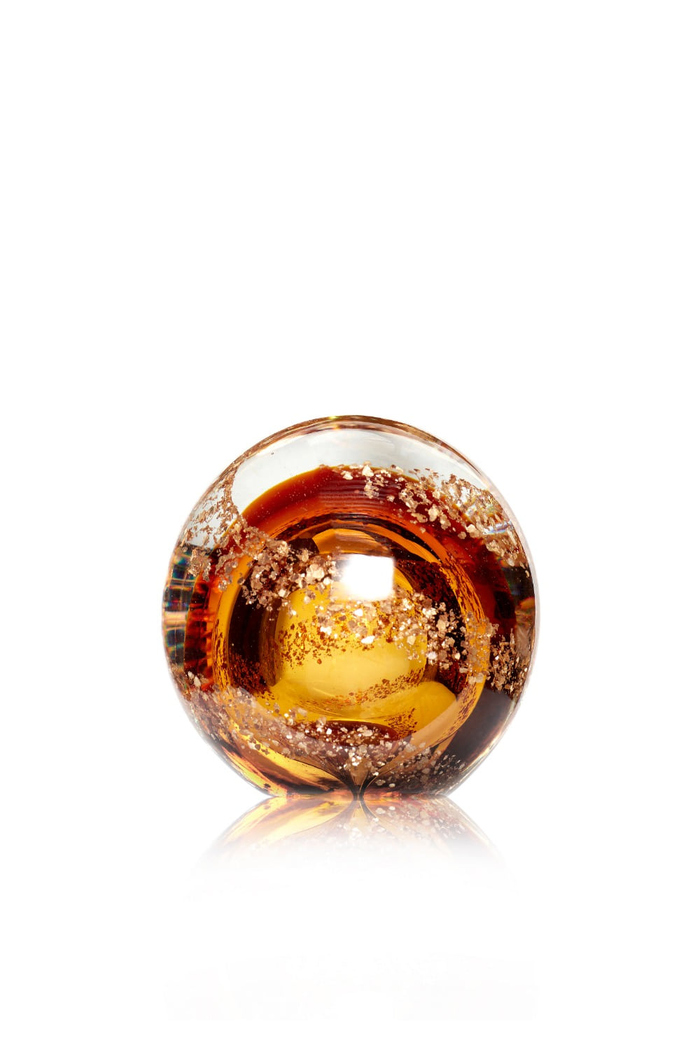 Paperweight Glass Brown