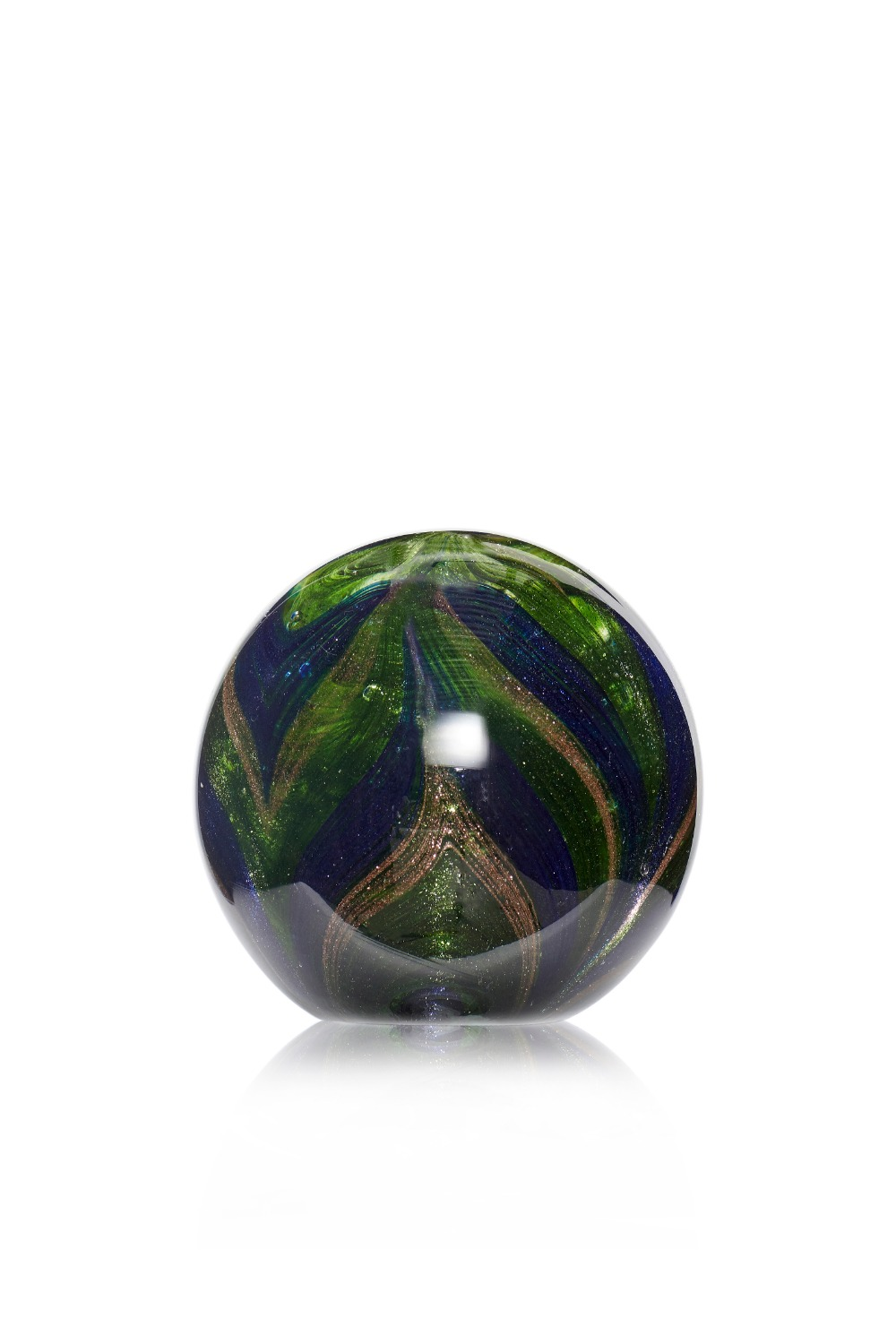 Paperweight Glass Green