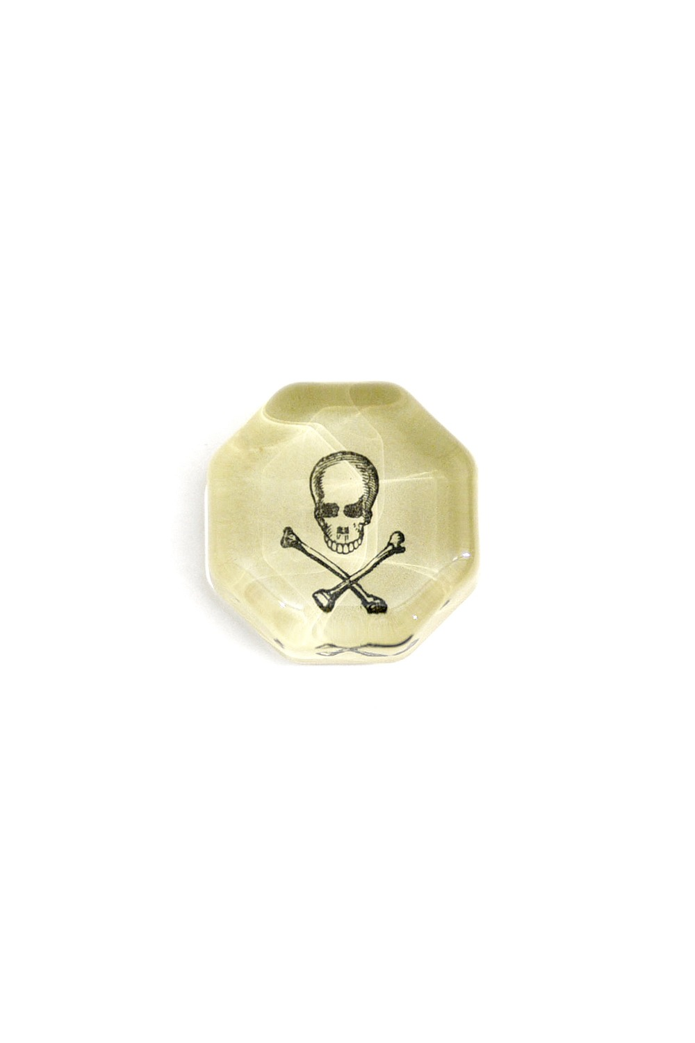 Rectangular Charm Paperweights - Skull with Crossed Bones