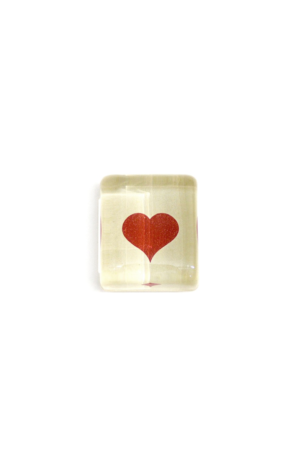Rectangular Charm Paperweights - Blood Red Heart